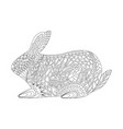 rabbit in the style of zentangle for easter and vector image