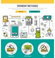 header template - payment methods vector image