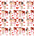 A seamless design of lovers vector image vector image
