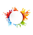 abstract paint color design background vector image