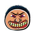 Angry cartoon face vector image vector image