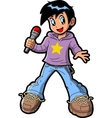 Anime Manga Boy Pop Star vector image vector image