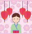asian woman icon vector image