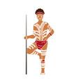australian aborigine icon in colour style isolated