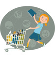Back to school shopping vector image