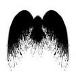 black grunge wings three vector image