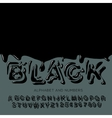 black oil painted alphabet vector image vector image
