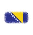 Bosnia and Herzegovina flag halftone vector image vector image