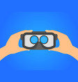 cartoon human hands holding virtual reality vector image vector image