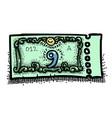Cartoon image of ticket icon raffle symbol