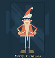 christmas santa claus hipster vector image
