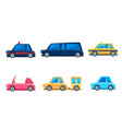 city transport set cute colorful childish vector image vector image