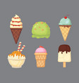 collection of cartoon ice cream vector image vector image