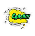 crash comic style phrase with speech bubble vector image vector image