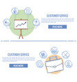 customer service and support infographic vector image