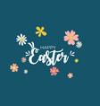cute cartoon happy easter spring holiday vector image vector image