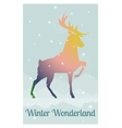 deer in snowy winter night vector image