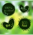 doodle tags organic banners set labels for vector image