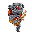 dragon japanese tattoo art vector image
