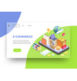 e-commerce website page background vector image