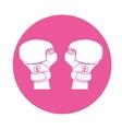 emblem boxing gloves icon image vector image