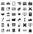 finance icons set simle style vector image vector image