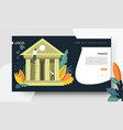 finance web page template online banking vector image