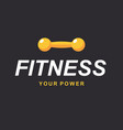 fitness gym logo sign bodybuilding club template vector image vector image