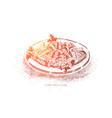 fusilli pasta salad with tuna and parsley vector image