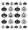 Glyph emoji pumpkin icon set vector image vector image