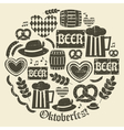 grungy design oktoberfest icons set vector image