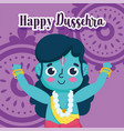 happy dussehra festival india lord rama vector image vector image