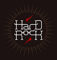hard rock badge - original lettering vector image vector image