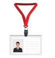 Lanyard with photo vector image vector image