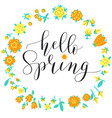 lettering hello spring vector image vector image