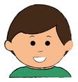 little baby boy character vector image vector image