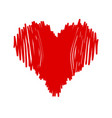 marker isolated heart vector image