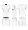 Men short sleeve t-shirt and sport shorts vector image vector image
