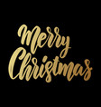 merry christmas lettering phrase for postcard vector image