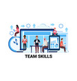 mix race team skills development business concept vector image vector image