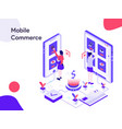 mobile commerce isometric modern flat design vector image vector image