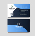 modern blue business card vector image vector image