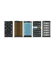 modern flat server racks computer processor vector image vector image