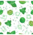 Mojito seamless pattern Mojito green mint and lime vector image vector image