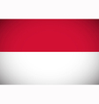 National flag of Indonesia vector image vector image