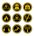 occupational safety and health icons vector image vector image