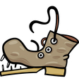 Old shoe or boot cartoon clip art vector image
