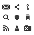 packs icons User interface for mobile devices and vector image vector image