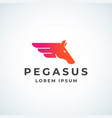 pegasus horse wing sign symbol or logo vector image