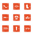 pre screening icons set grunge style vector image